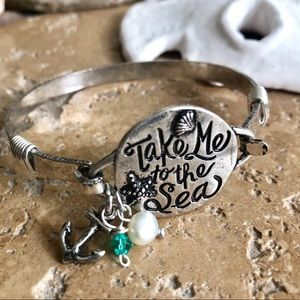 Jewelry - Take Me To The Sea Ocean Charm Bracelet Silver